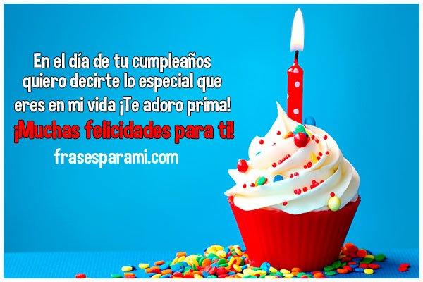 Feliz Cumpleaños Prima » Imágenes, Postales y Frases para