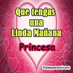 tarjeta bonita buenos dias princesa