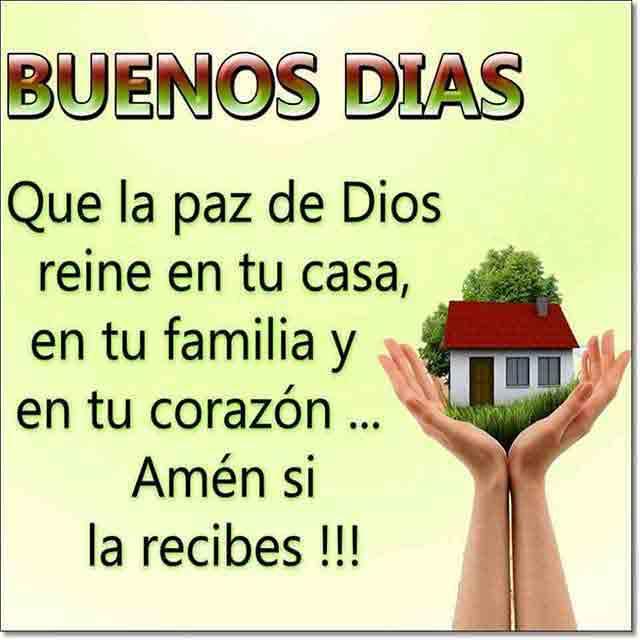 buenos dias agradeciendo a dios