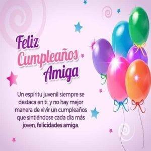 felicitaciones de cumpleaños para una amiga