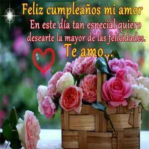 felicitacion para mi amor en cumpleaños