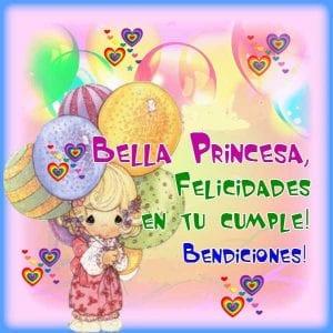 imagen para felicitar princesa en cumpleaños
