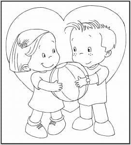 imagenes para pintar de amistad