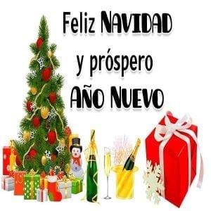 feliz navidad y prospero año nuevo 2020