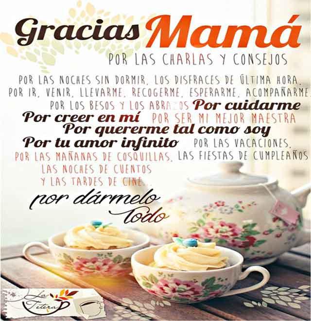 gracias mamá feliz día