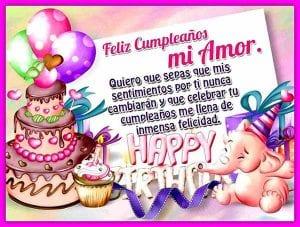 feliz cumpleaños amor mio