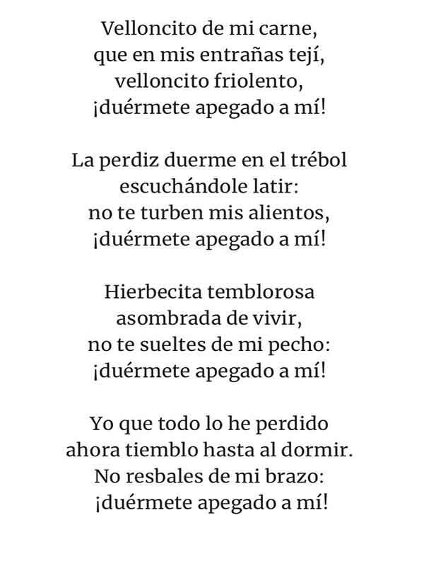 poemas para niños de gabriela mistral