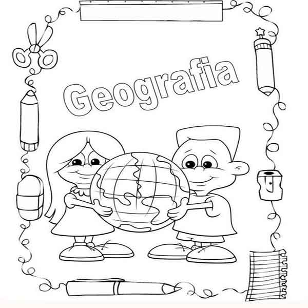 portadas cuaderno de geografia para primaria