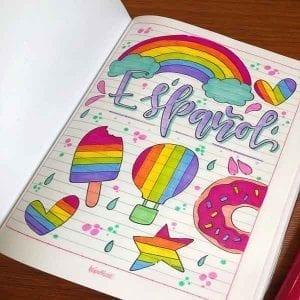 portadas de cuadernos decoradas