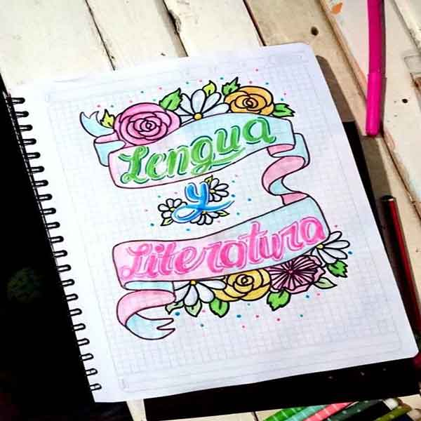 portadas de cuadernos decoradas bonitas para copiar